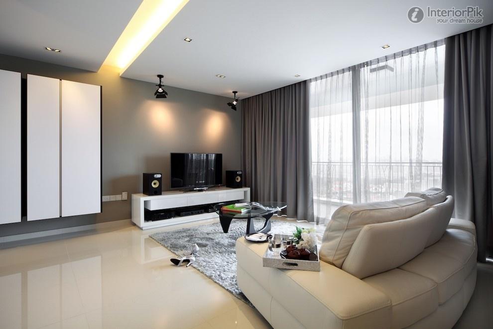 Modern Grey Large Windows In Living Room (Image 7 of 10)
