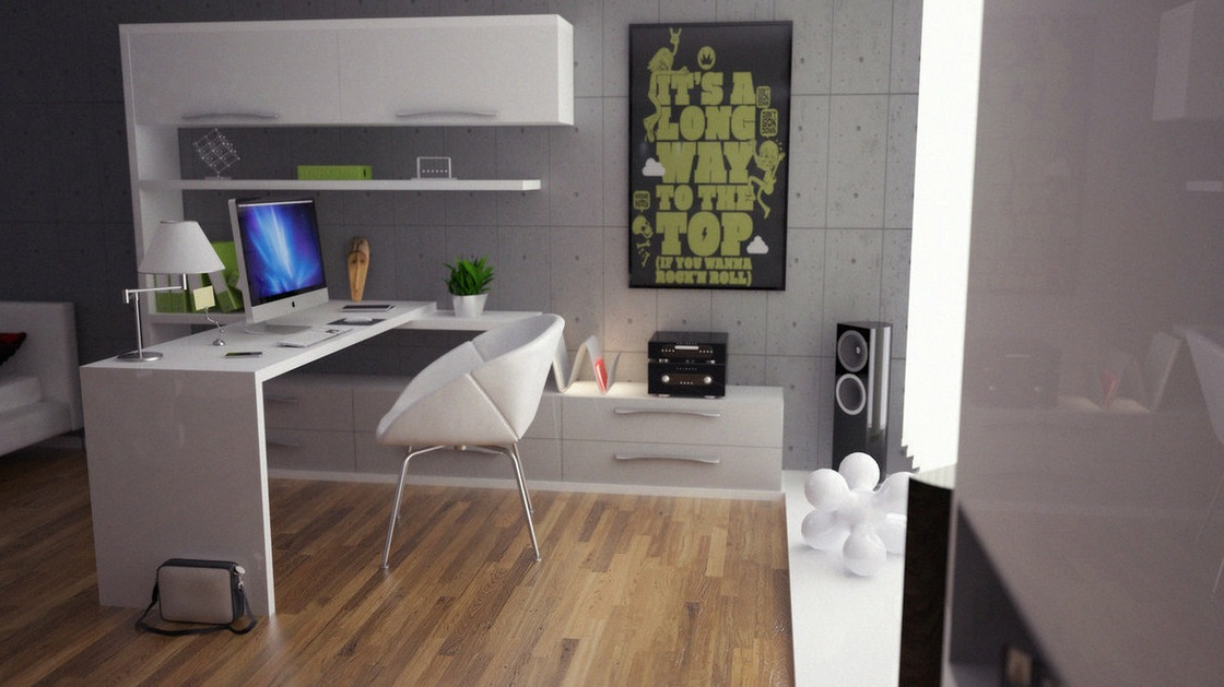 Modern Home Office Decorating Ideas For Men (Image 6 of 10)