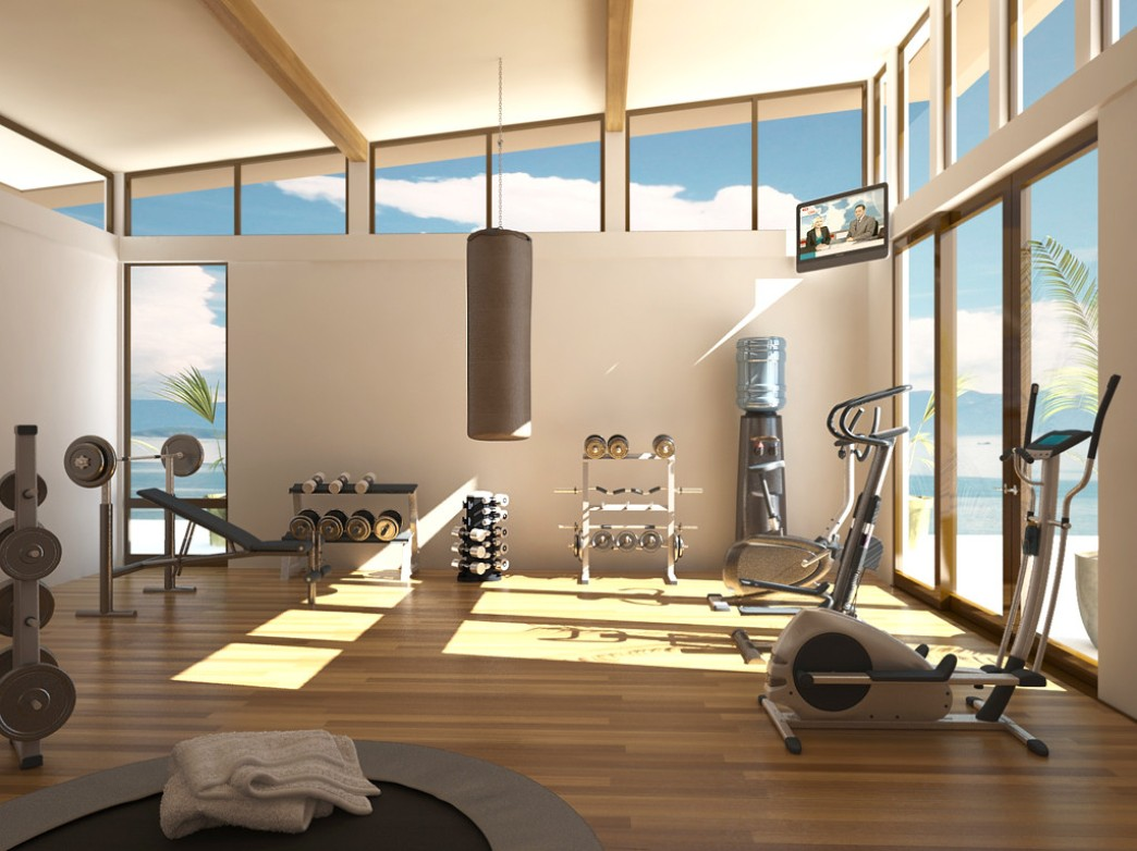 Modern Interiors Designing Gym Room In Home (Image 6 of 10)