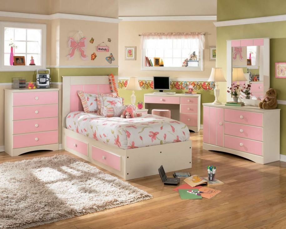 Modern Pink Providing Sanctuary In Teenage Girl Bedroom (View 4 of 10)