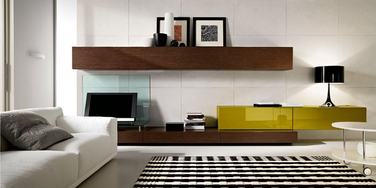 Modern Wall Mount Wooden TV Cabinet
