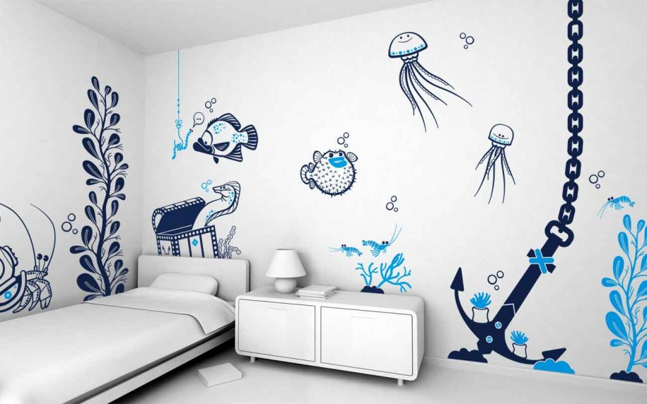How Does The Ocean Home Decor For Bedrooms Look Like? | Custom