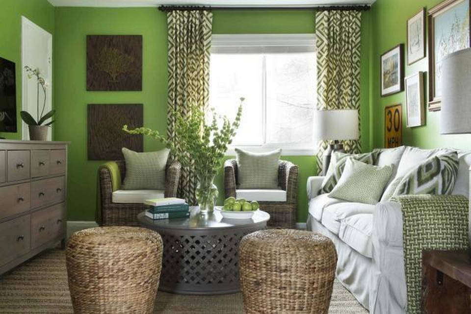 neutral accents in this living room image 8 of 10 - Green House Decoration
