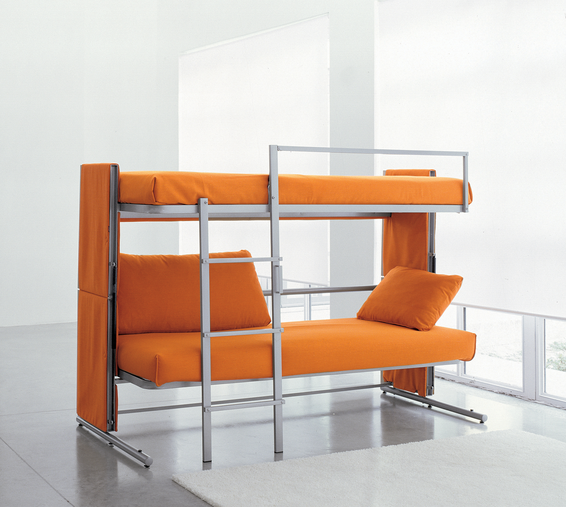 Orange Brighter Unique Bunk Bed