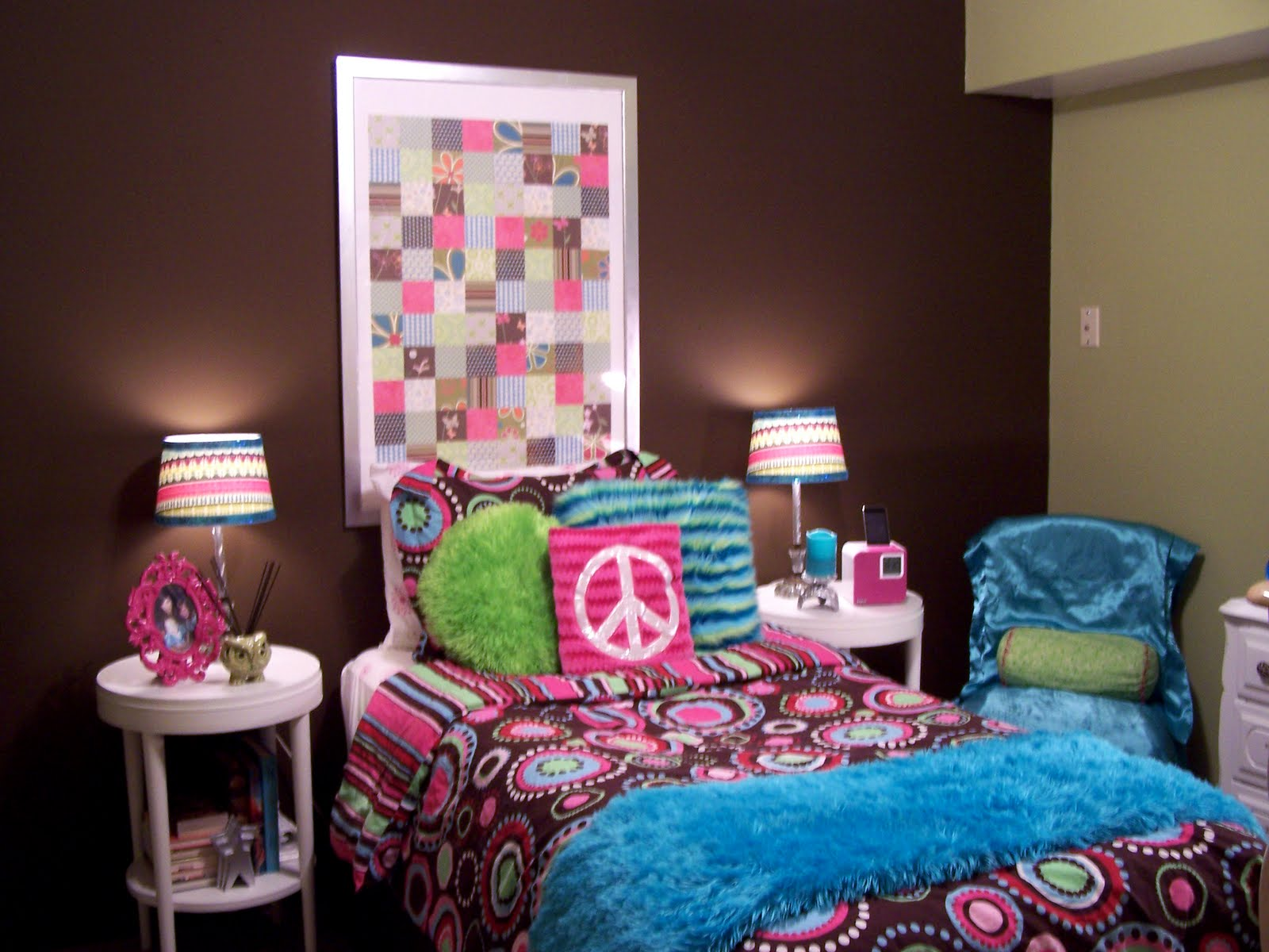 Peace Cheap Teenage Girl Bedroom Ideas