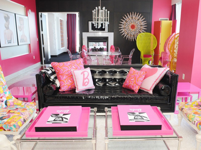 Charming Pink Sofa Pillows For Living Room | Custom Home Design