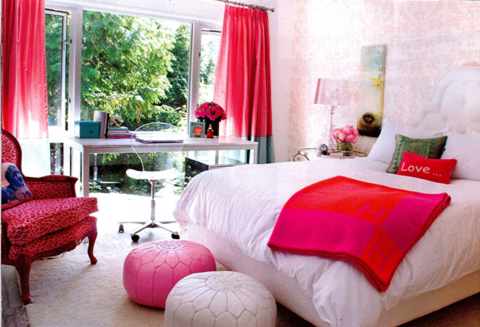 Pink Providing Sanctuary In Teenage Girl Bedroom (View 6 of 10)