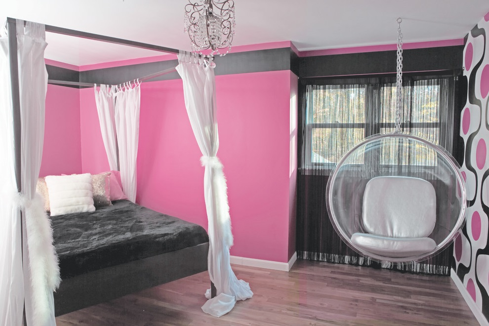 Pink Theme For Girl Bedroom (View 10 of 10)
