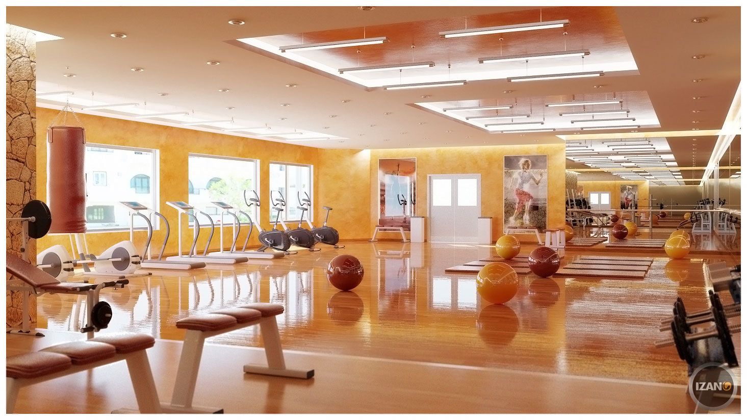 Professional Interior Designing Gym Room In Home (Image 8 of 10)
