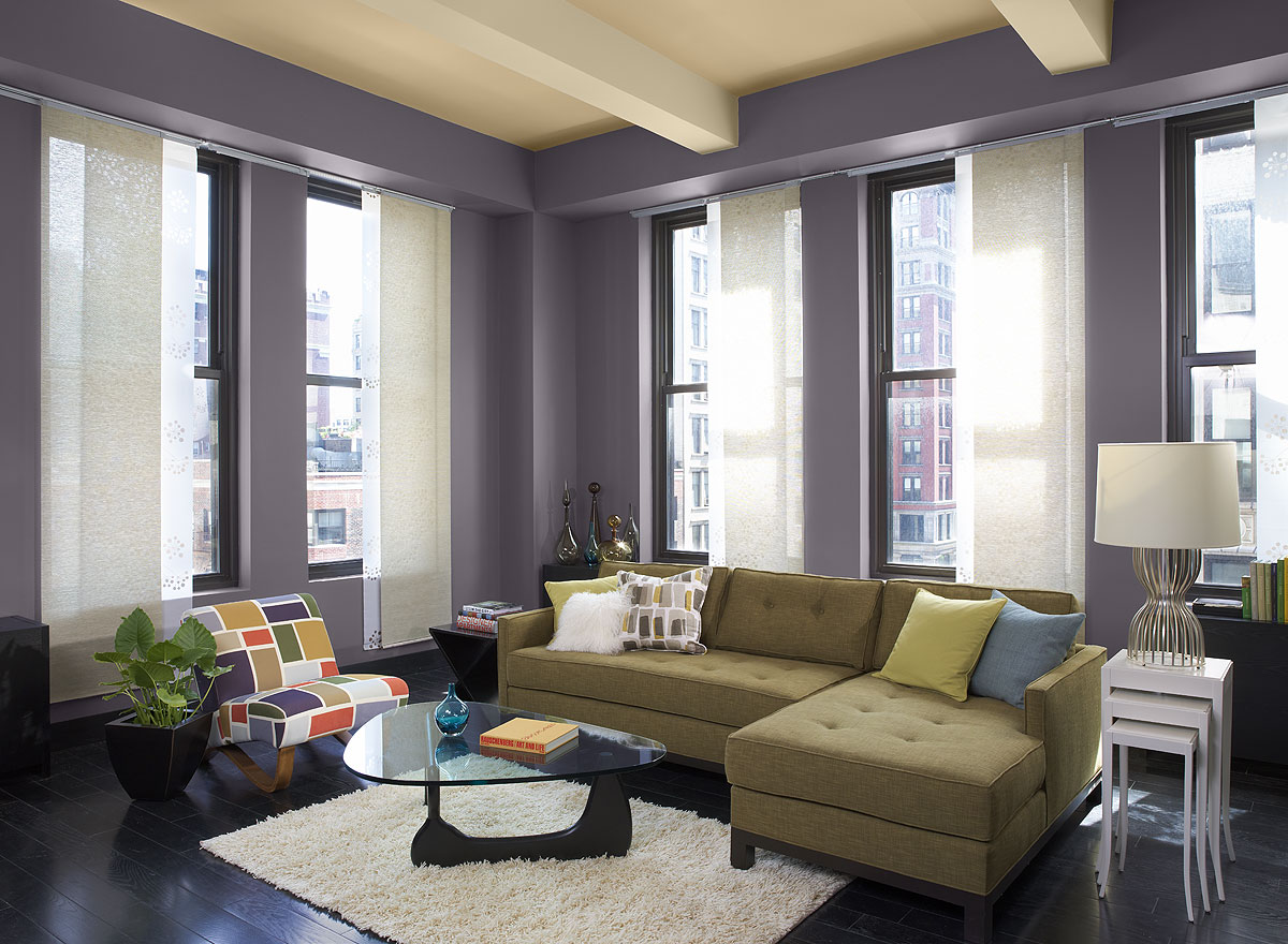 Purple Calming Paint Colors for Neutral Room