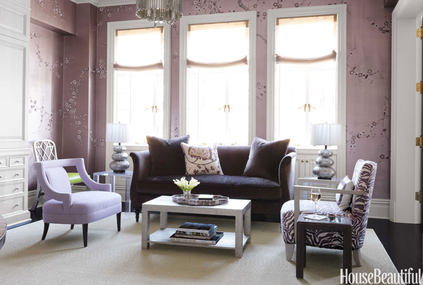 Purple Modern Style NYC Living Room Ideas (Image 8 of 10)