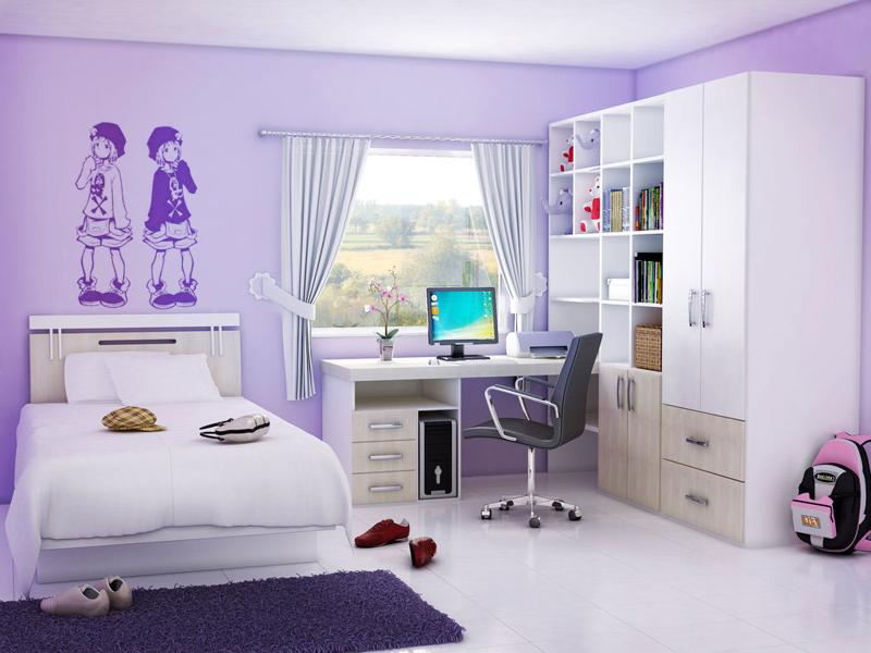 Purple Providing Sanctuary In Teenage Girl Bedroom (View 7 of 10)