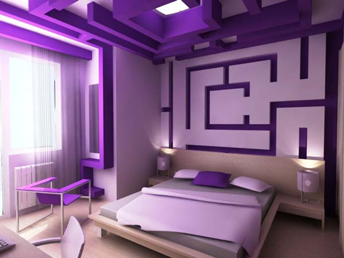 Purple Small Bedroom Paint Ideas (View 5 of 10)