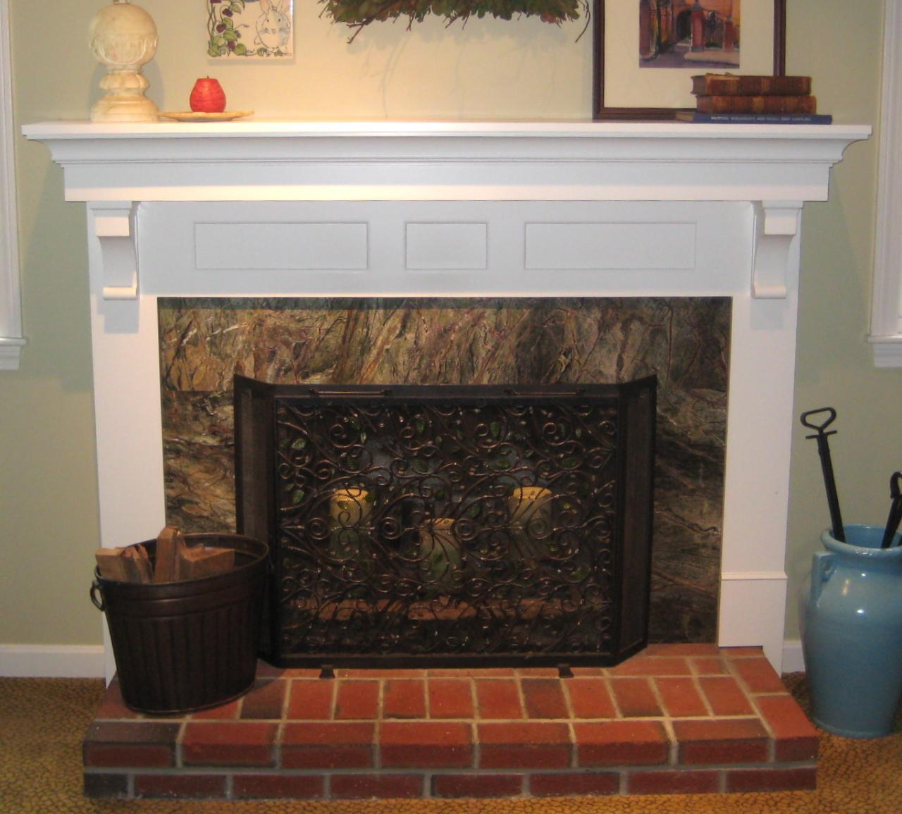 Red Stone Fireplace Mantel Kits Ideas (Image 7 of 10)