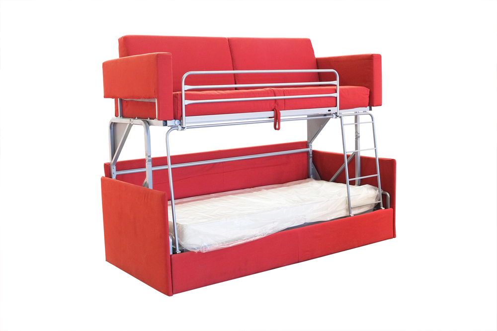 Red Unique Bunk Bed (Image 8 of 10)