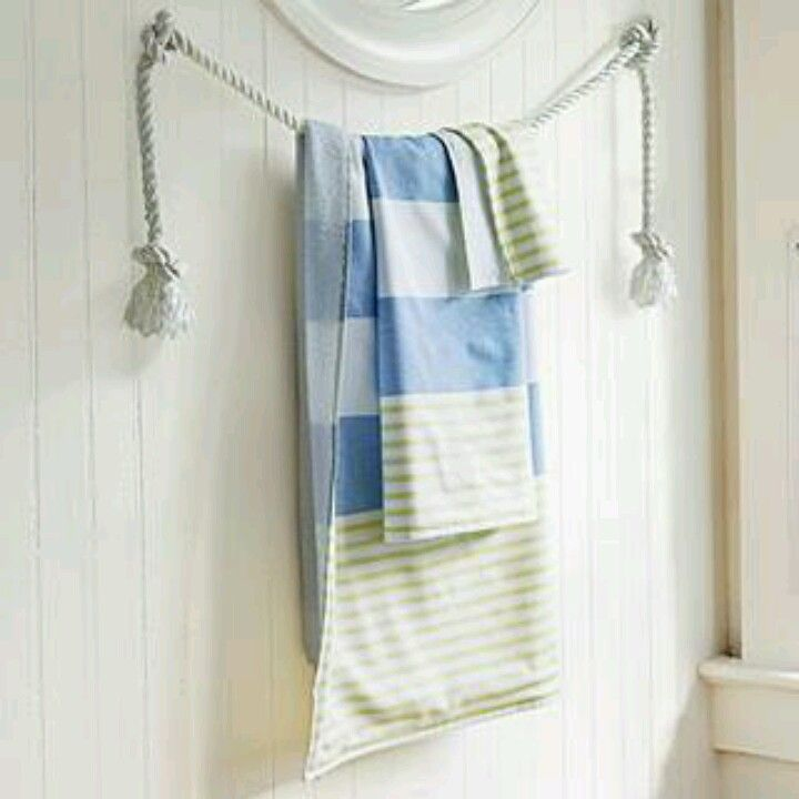 Rope Arrange The Towels In Your Bathroom (Image 7 of 10)