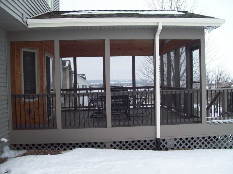 Screened In Porch Plans With Gutter Water (View 4 of 10)