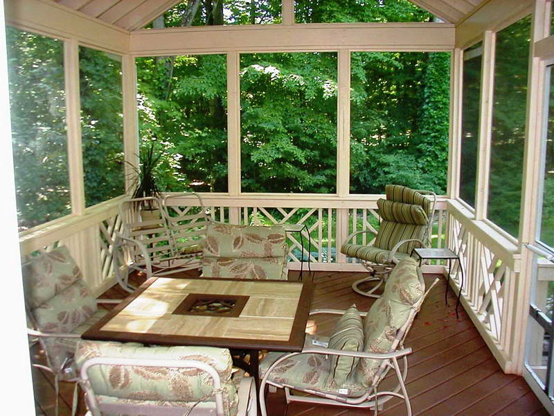 Screened In Porch With Chair Design Plans (Image 6 of 10)