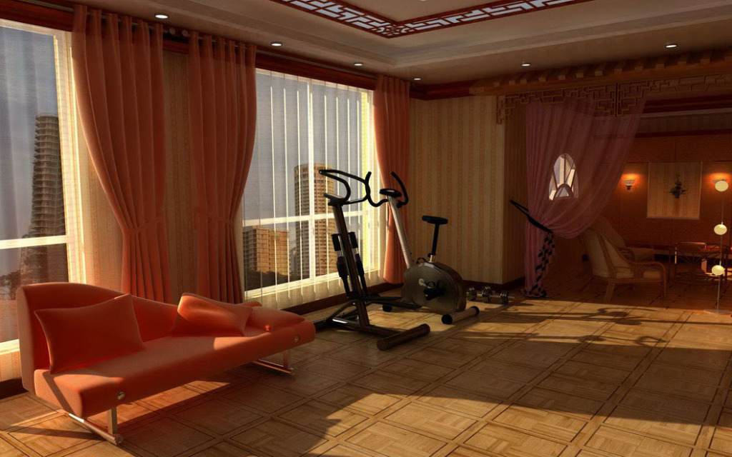 Simple And Small Designing Gym Room in Home