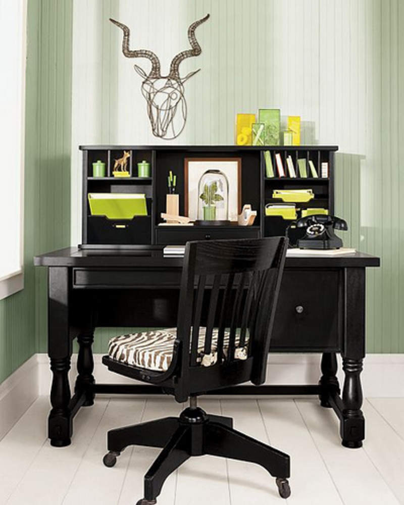 Simple Black Clever Home Office Decor Ideas (View 6 of 10)