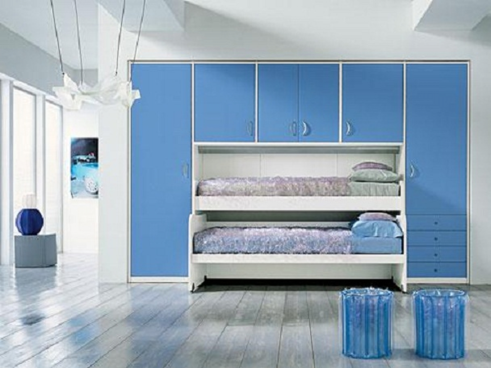 Simple Blue Cheap Teenage Girl Bedroom Ideas