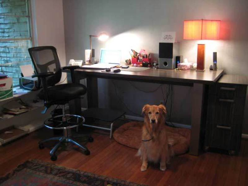Simple Dark Home Office Decorating Ideas For Men (Image 8 of 10)