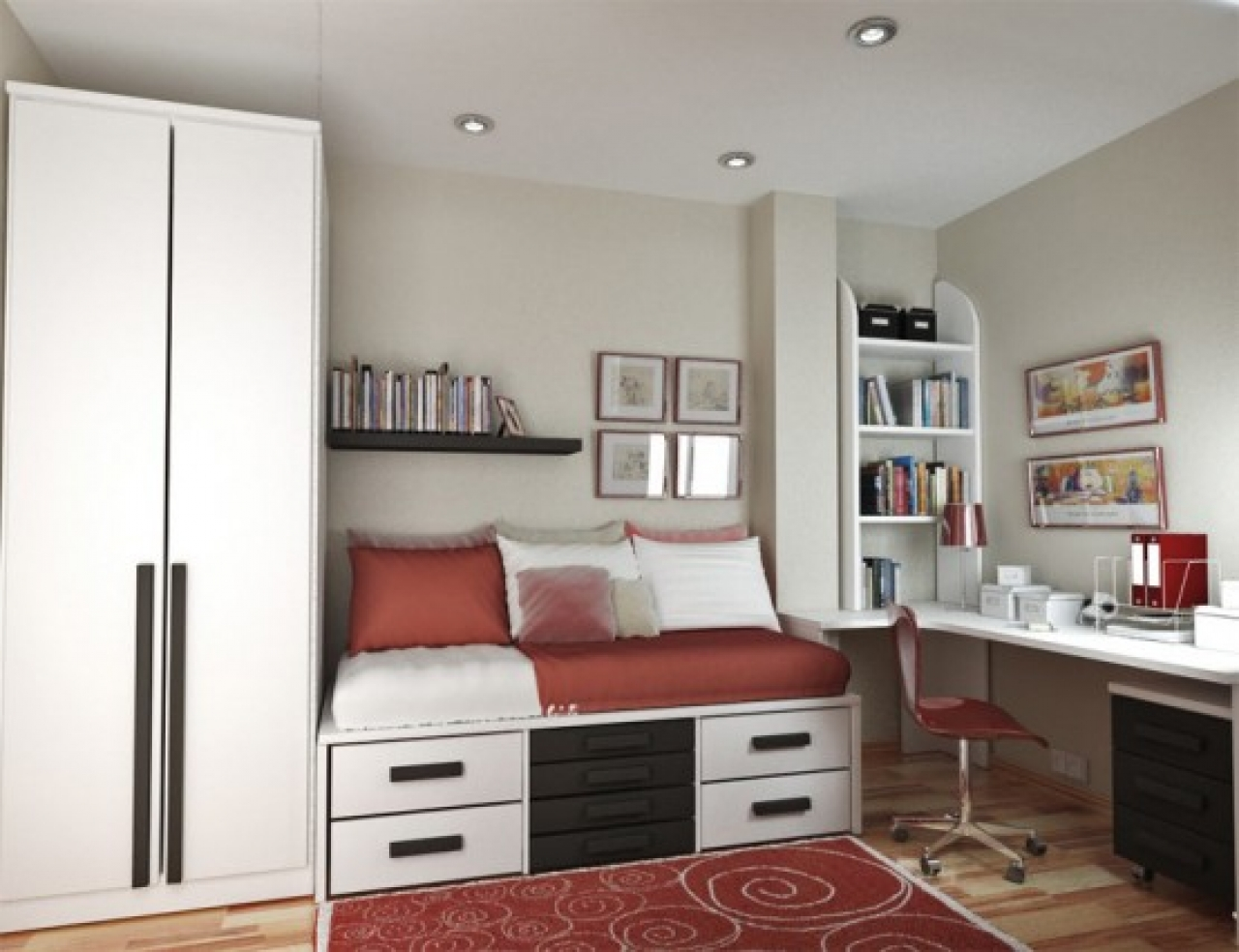 Simple Providing Sanctuary in Teenage Girl Bedroom