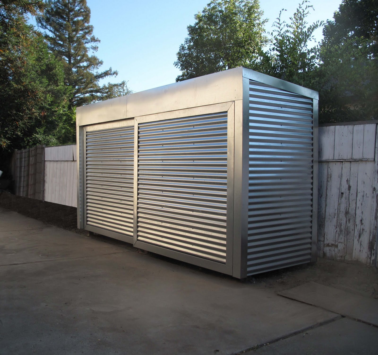 Simple Steel Garages With Two Levels Ideas (Image 9 of 10)