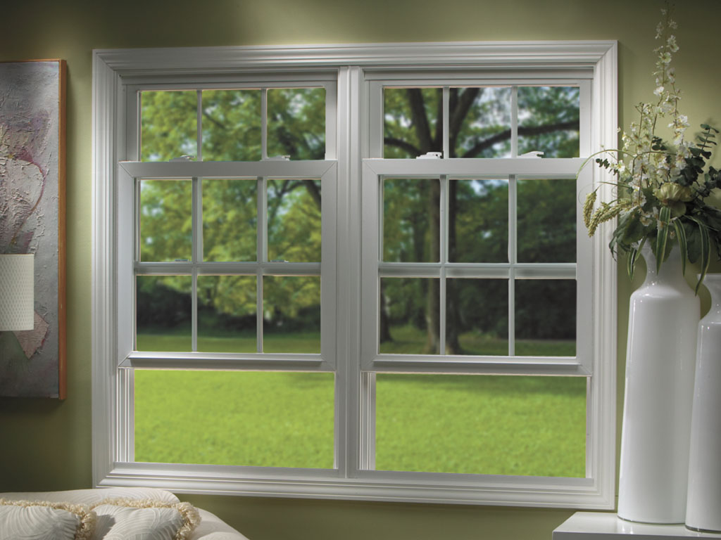 Simple White Double Hung Windows
