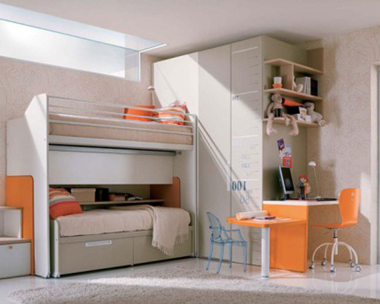 Simple White Providing Sanctuary in Teenage Girl Bedroom