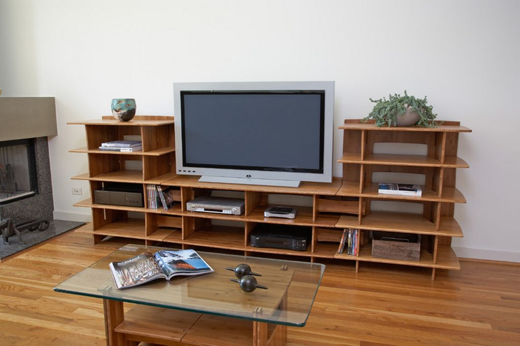 Tv stand ideas for living room custom home design for Tv cabinet for small living room