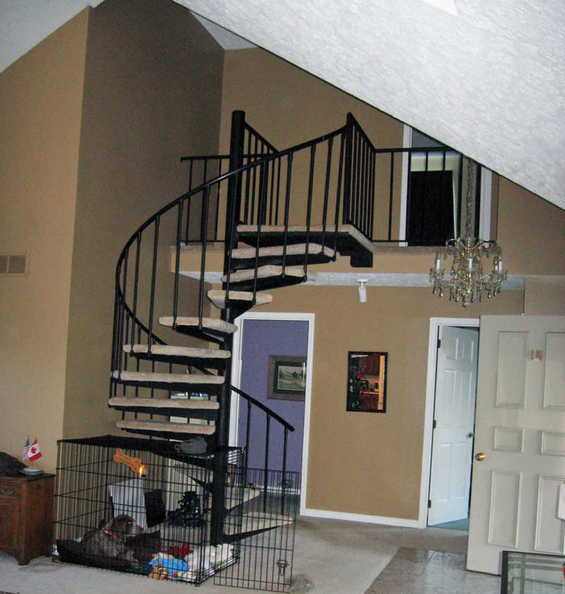 Spiral Mobile Home Stairs (View 7 of 10)