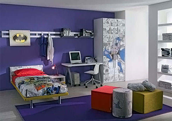 Superhero Batman Bedroom Design