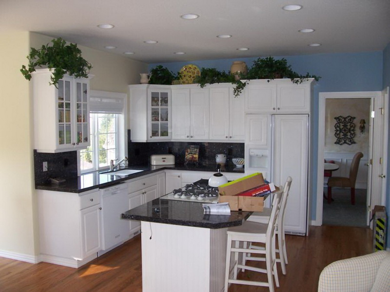 Kitchen Colors With White Cabinets how to paint kitchen cabinets with a sprayed on finish how tos diy