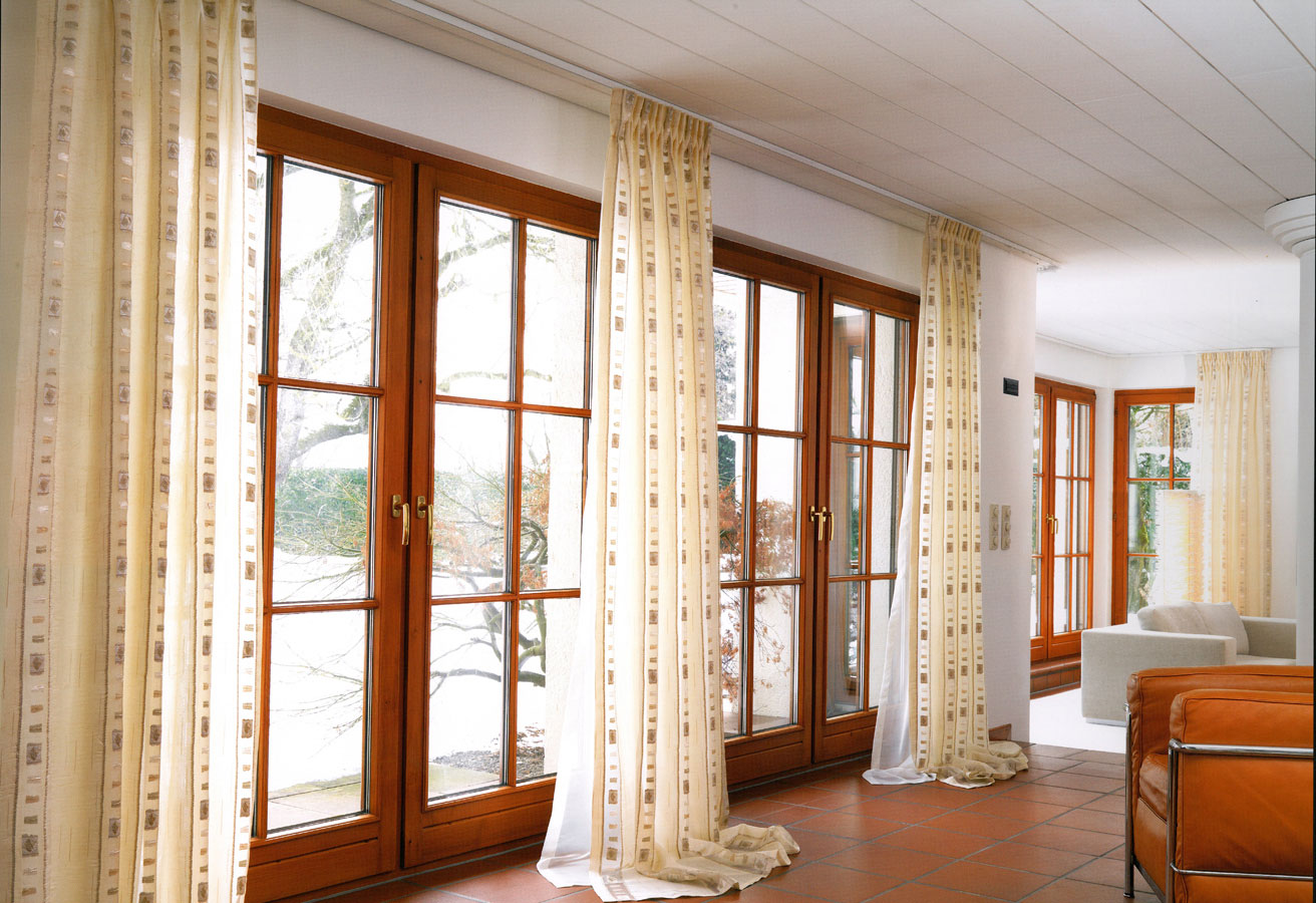 Curtain designs living room - Traditional Large Windows In Living Room Image 1 Of 10