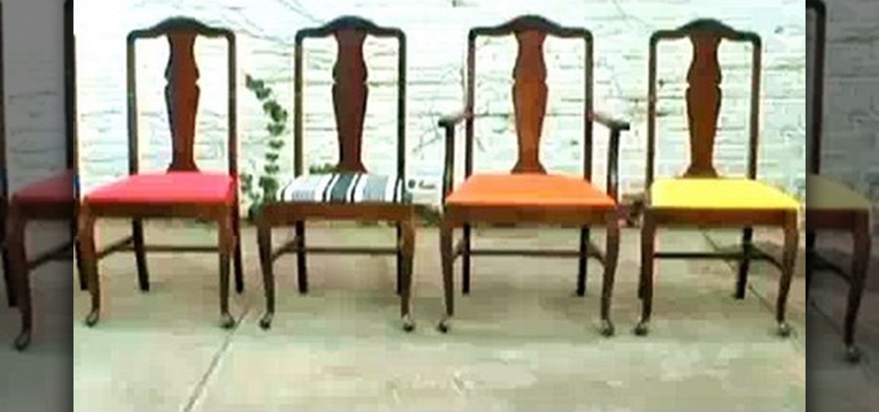 Vintage Reupholstering A Chair Design (Image 9 of 10)