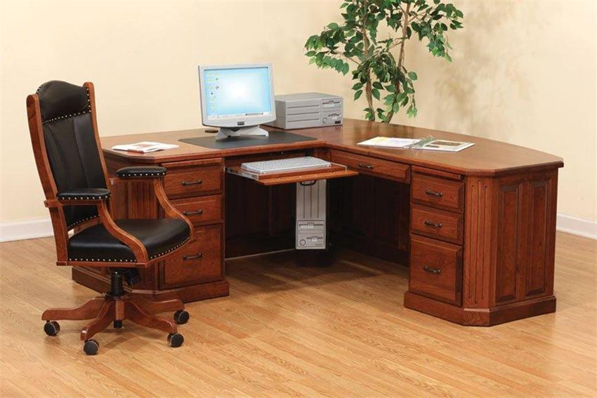 Vintage Wooden Clever Home Office Decor Ideas (Image 9 of 10)