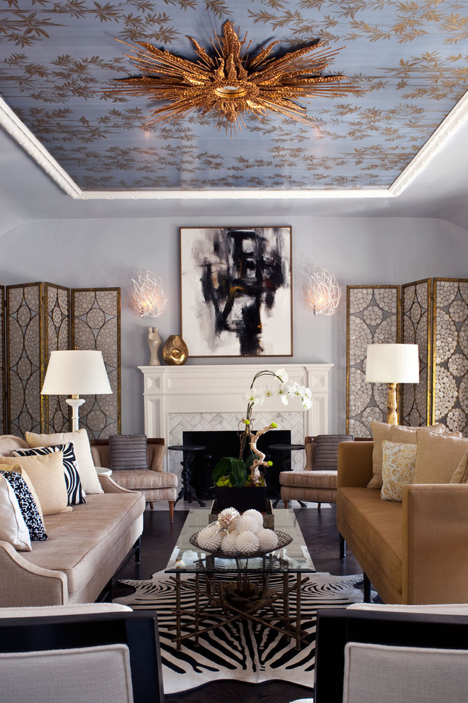 Wall And Ceiling Decor For Formal Living Room (View 4 of 14)