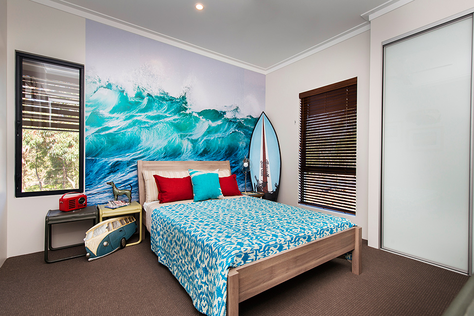 Wallpaper Sea Bedroom Interior With Ocean Decor (Image 9 of 10)