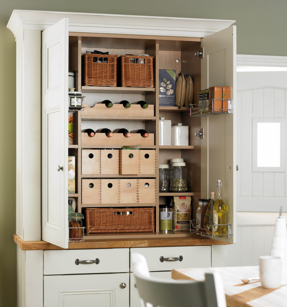 White Functional and Practical Kitchen Pantry