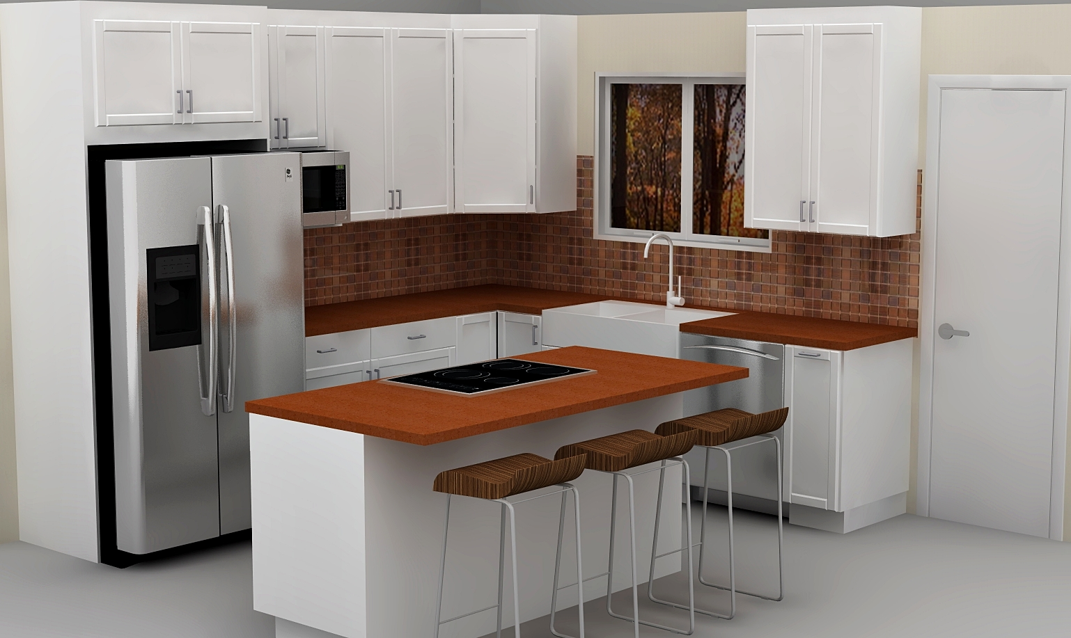 White IKEA Kitchen Cabinets (Image 10 of 10)