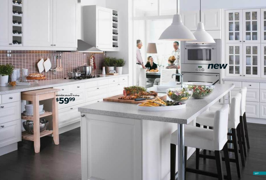 White Large Kitchen Design Application From IKEA Online (Image 10 of 10)