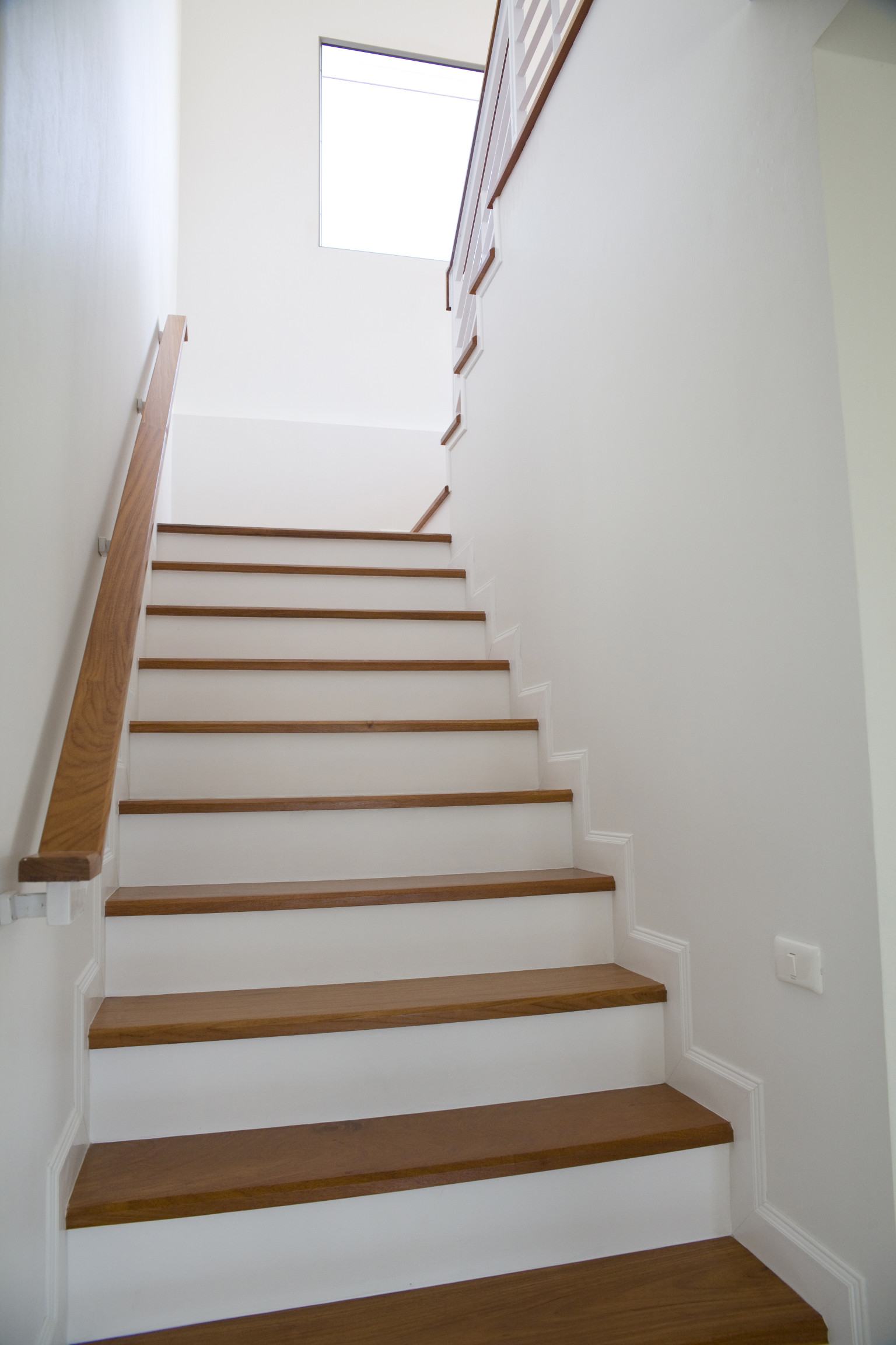White Mobile Home Stairs