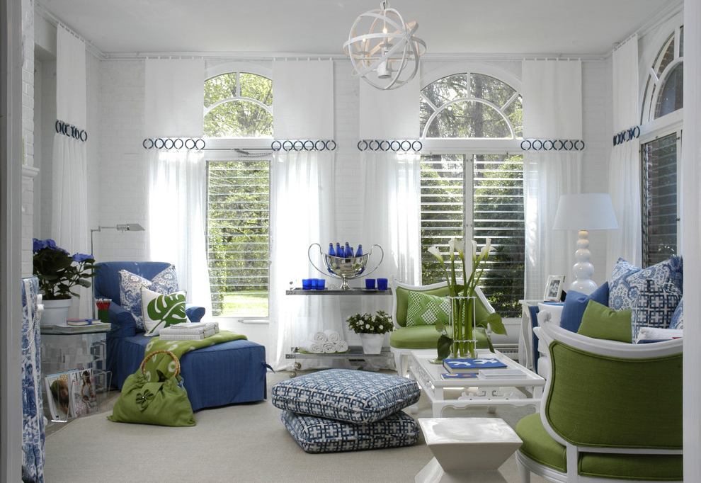 Nautical curtain ideas for textured design custom home for Modern curtains for living room 2014