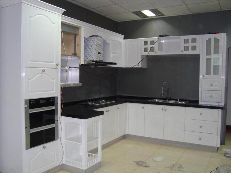 White Painting Kitchen Cabinets Decoration