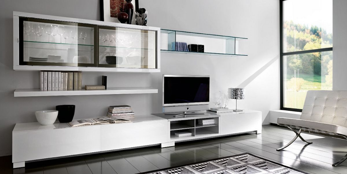 White TV Stand  Image 10 of Ideas For Living Room Custom Home Design
