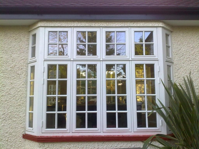 White Wooden French Casement Windows (Image 10 of 10)