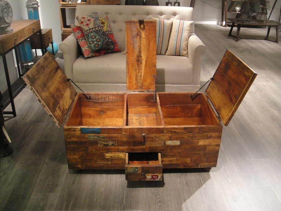 Wood Coffee Table Chest