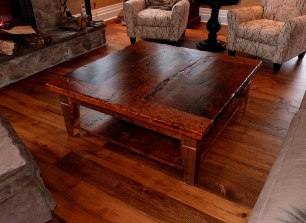 Wood Coffie Table Reclaimed (Image 9 of 10)