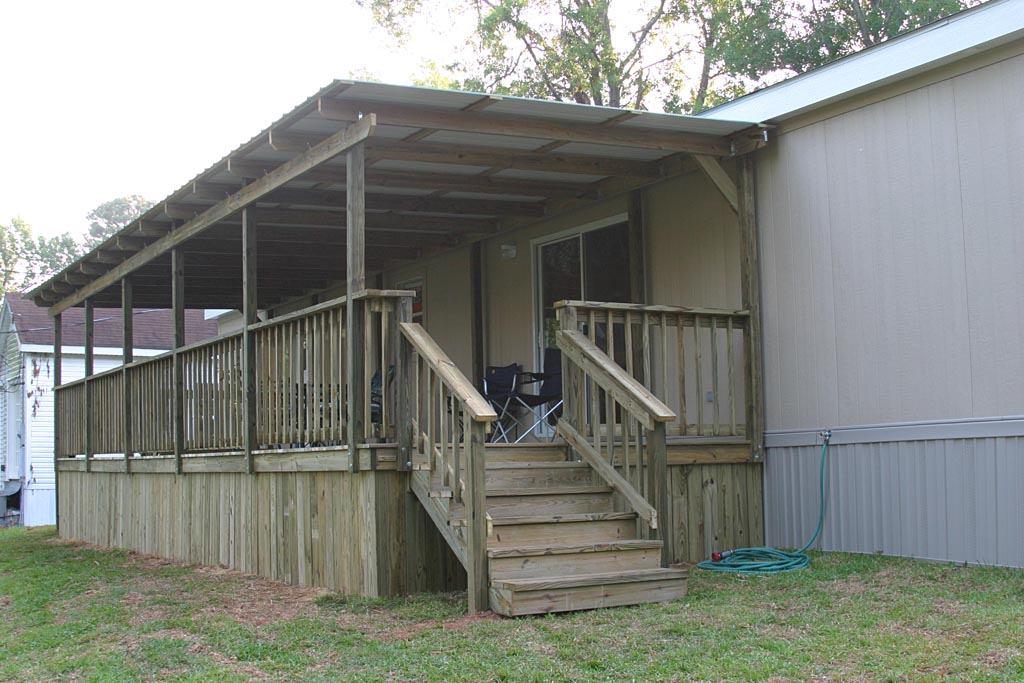 Wooden Mobile Home Stairs